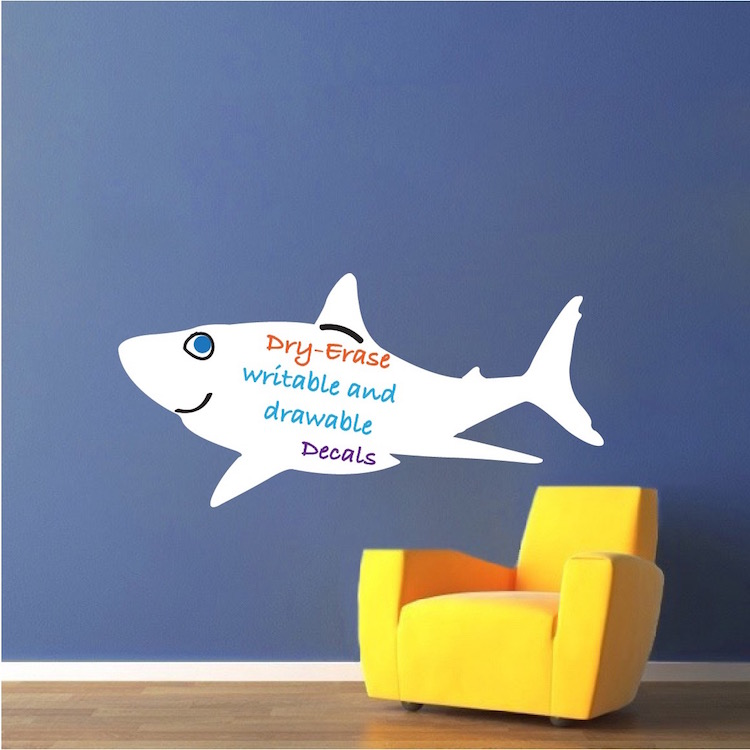 Writable Shark Wall Decal Part 51