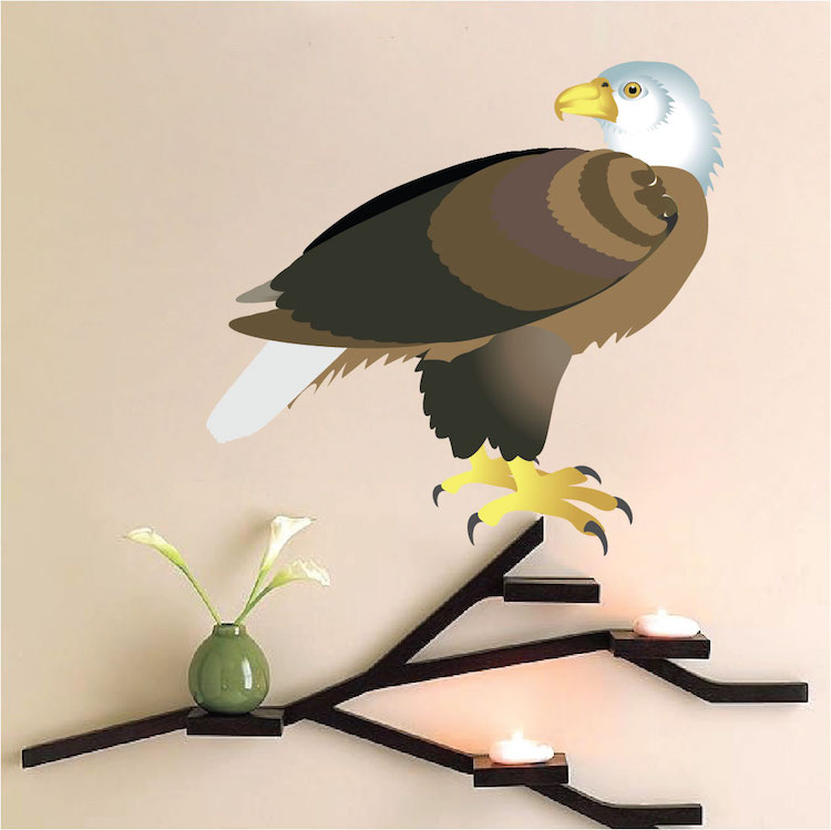 eagle decal bird wall decal murals primedecals ForEagle Wall Mural
