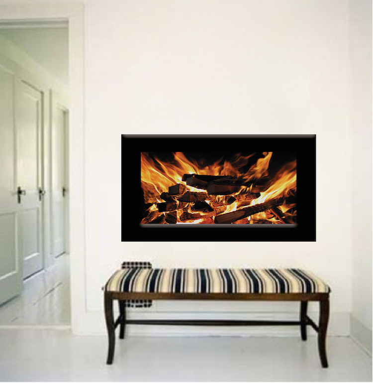Fireplace Wallpaper Decal Fireplace Wall Sticker Living