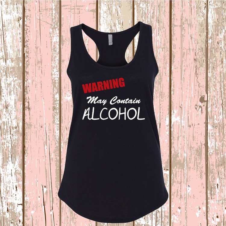 May Contain Alcohol Funny Wine Tasting Tank Or Tee Wine
