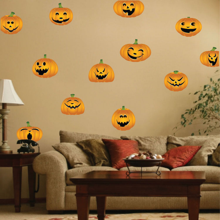 pumpkin wall and window stickers