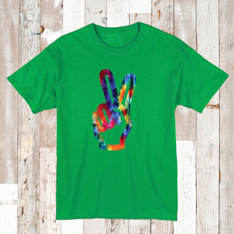 Tie dye hippie tees and onesies hippie t shirts tie for Custom t shirts tie dye