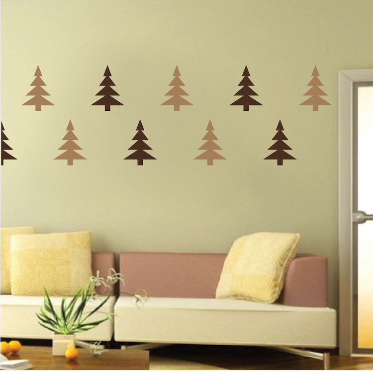 Christmas Tree Wall Decals - Christmas Murals - Primedecals