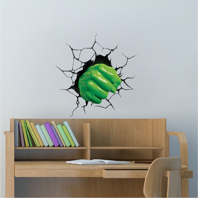 green fist smash wall decal - Wall Design Decals
