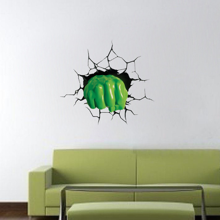 green fist smash wall decal - Wall Decals Designs