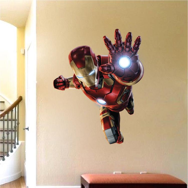 Ironman Wall Decal Superhero Wall Design Avengers Wall Part 19