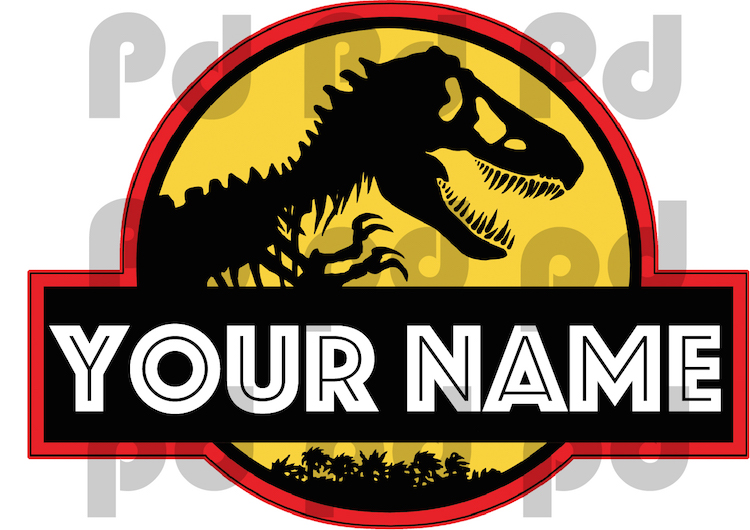 Jurassic park personalized wall decal superhero wall for Best 20 jurassic park wall decal