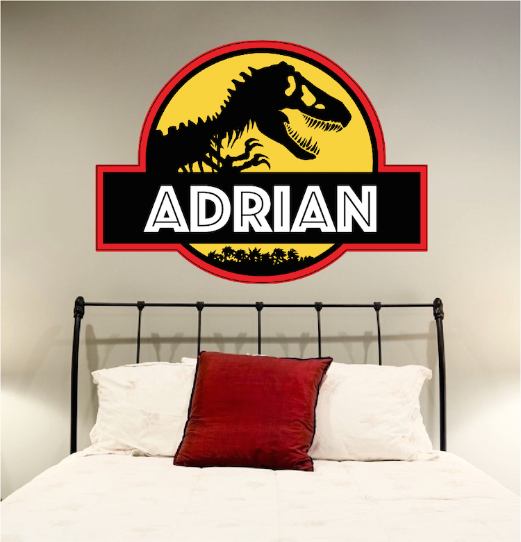Jurassic Park Personalized Wall Decal Superhero Wall Design - Superhero wall decals application