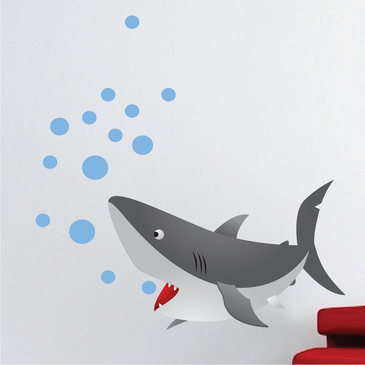 Kids Shark Wall Mural Decal Part 40