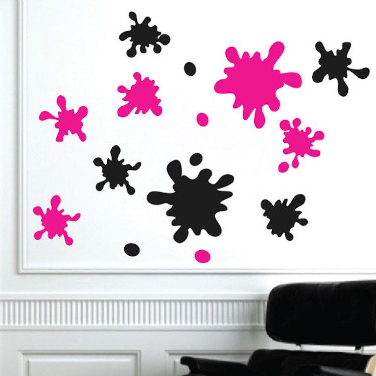 Splash Colorful Room Wall: Ink Splash Decal Murals