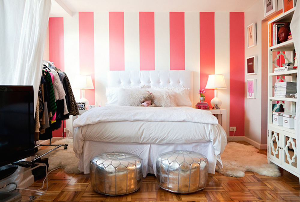 White 6 Wall Stripes Stripe For Walls Removalbe Primedecals