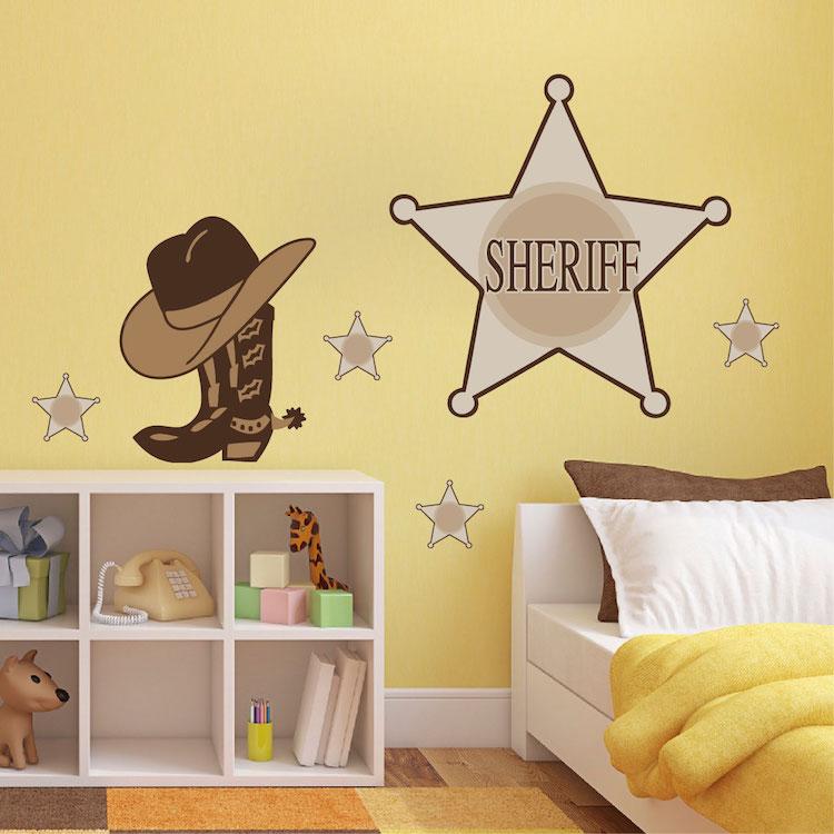 Sheriff Wall Decals - Cowboy Stickers - Primedecals