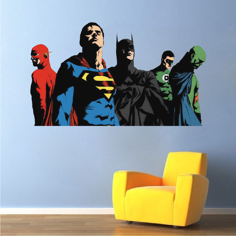 Superheroes Justice League Bedroom Wall Decals   Kids Comic Wall Decor    Primedecals Part 74