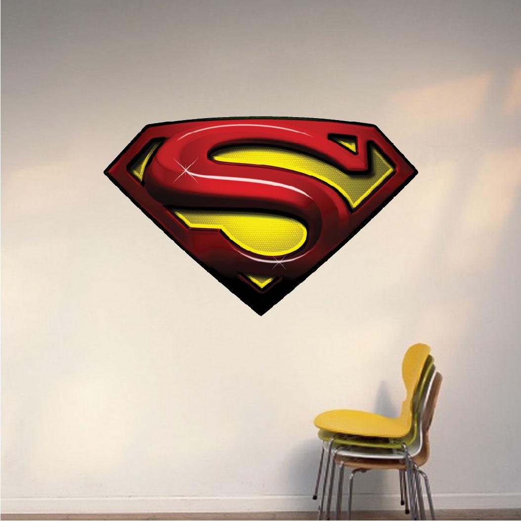 Superman Wall Murals Superman Decal Mural Super Heroes Wall Decals Primedecals
