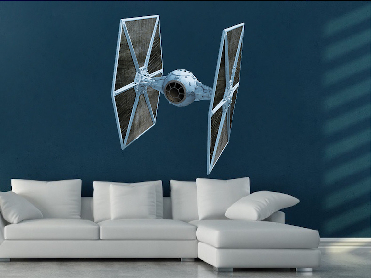 Tie Fighter Star Wars Wall Mural Decal   Star Wars Wall Decal Murals    Primedecals Part 85