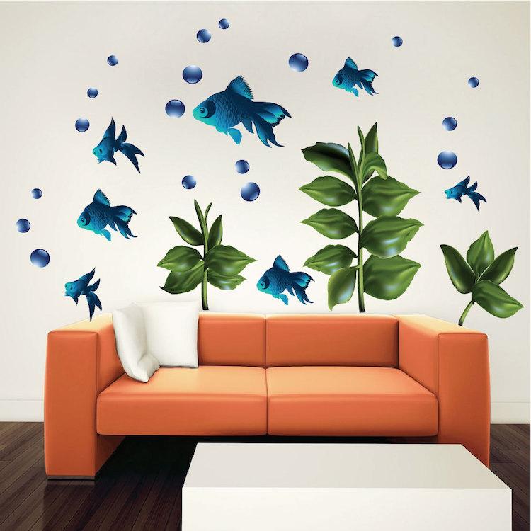 kids fish nursery wall decal murals primedecals. Black Bedroom Furniture Sets. Home Design Ideas