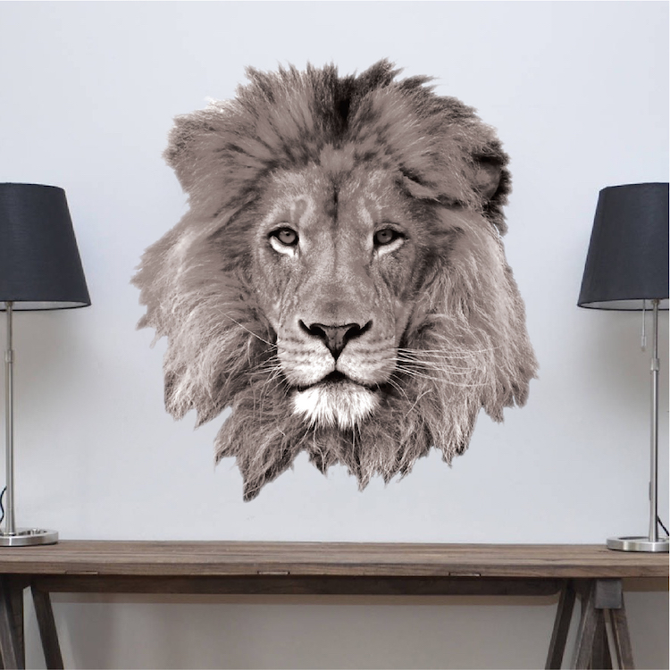 Lion Wall Decal - African Wall Decal Murals - Primedecals