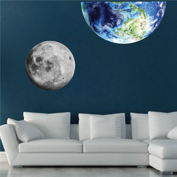 moon wall mural decal space wall decal murals primedecals moon and stars wallpaper wall mural muralswallpaper co uk