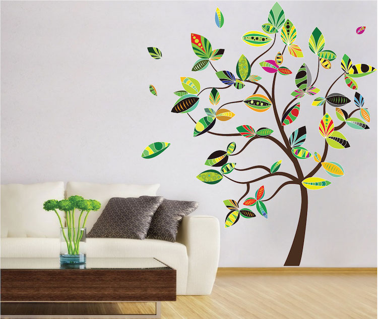 abstract tree wall decal tree wall decal murals primedecals. Black Bedroom Furniture Sets. Home Design Ideas