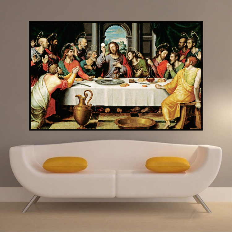 The Last Supper Wall Art last supper wall decal mural - jesus decals - primedecals