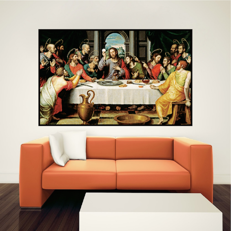 Captivating Last Supper Wall Decal Mural Part 11