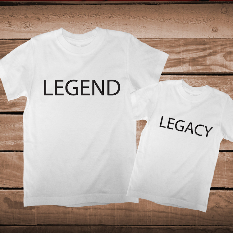 Legend Legacy Matching Parent And Child Tee Father And