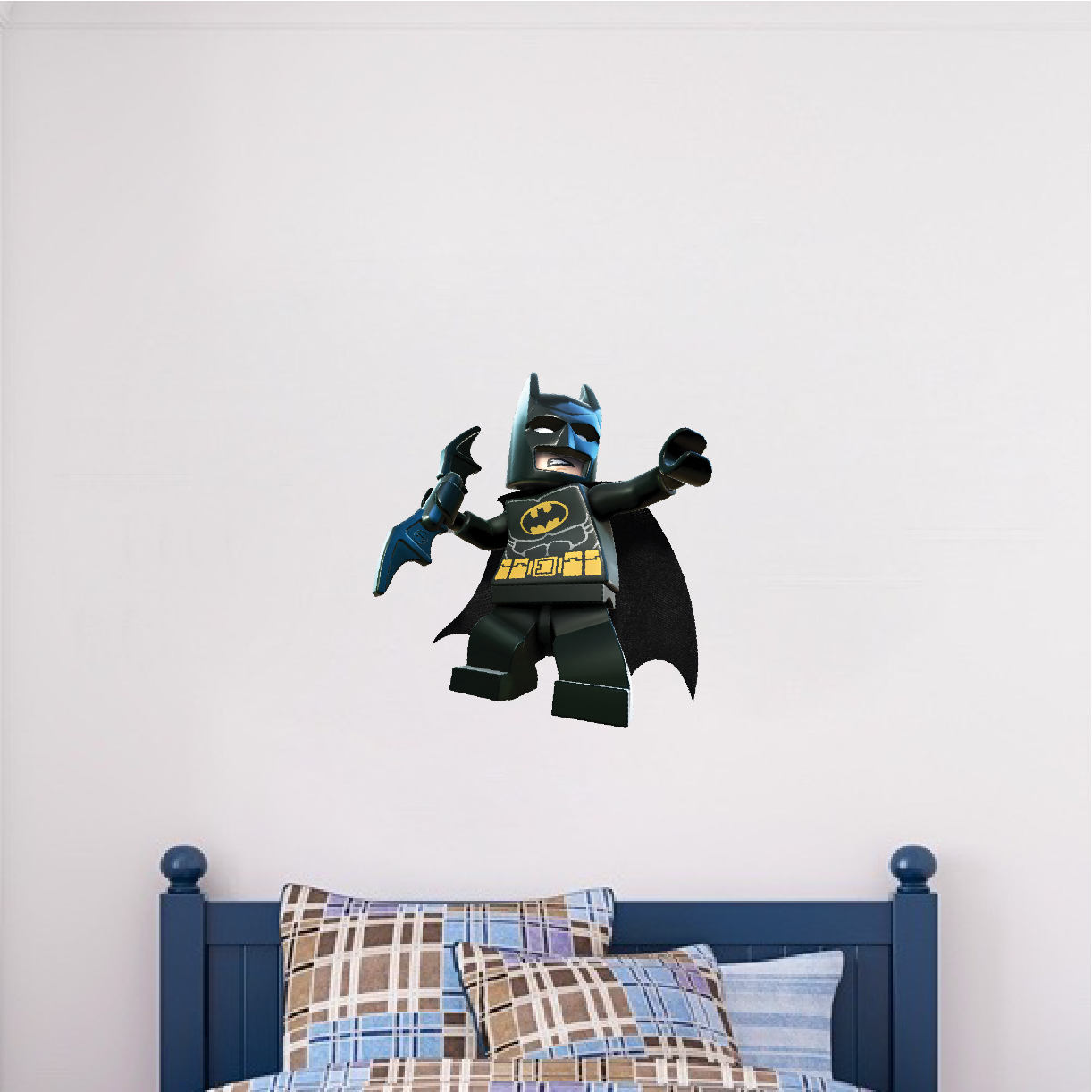 Lego batman wall decal superhero wall design the dark for Dark knight mural