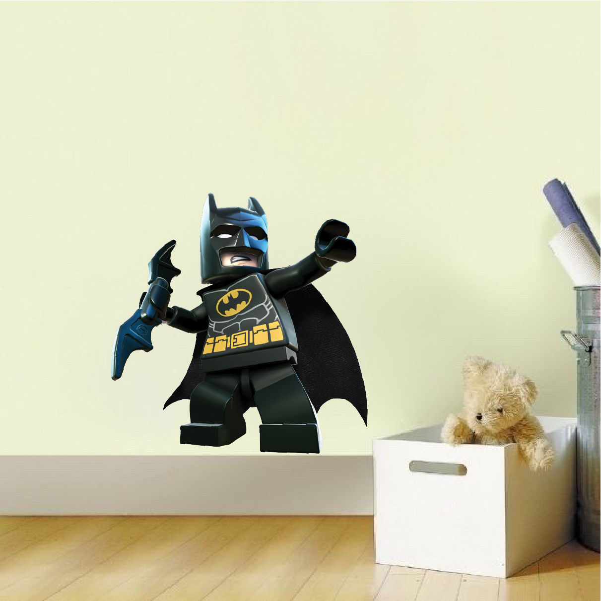 Lego batman wall decal superhero wall design the dark for Batman wall mural decal