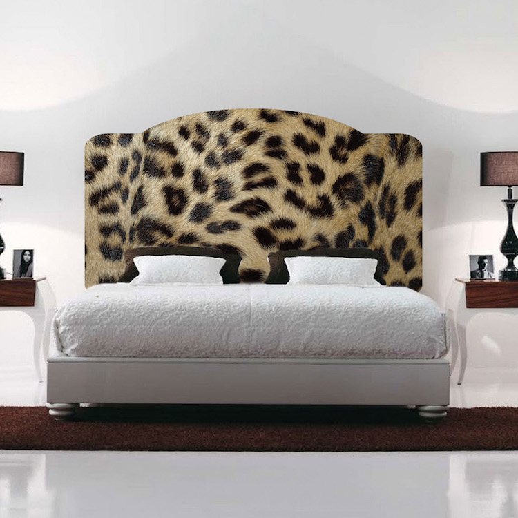 Leopard Print Headboard Mural Decal - Headboard Wall Decal Murals