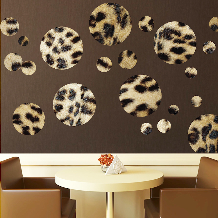 cheetah animal print polka dot decals - wall stickers