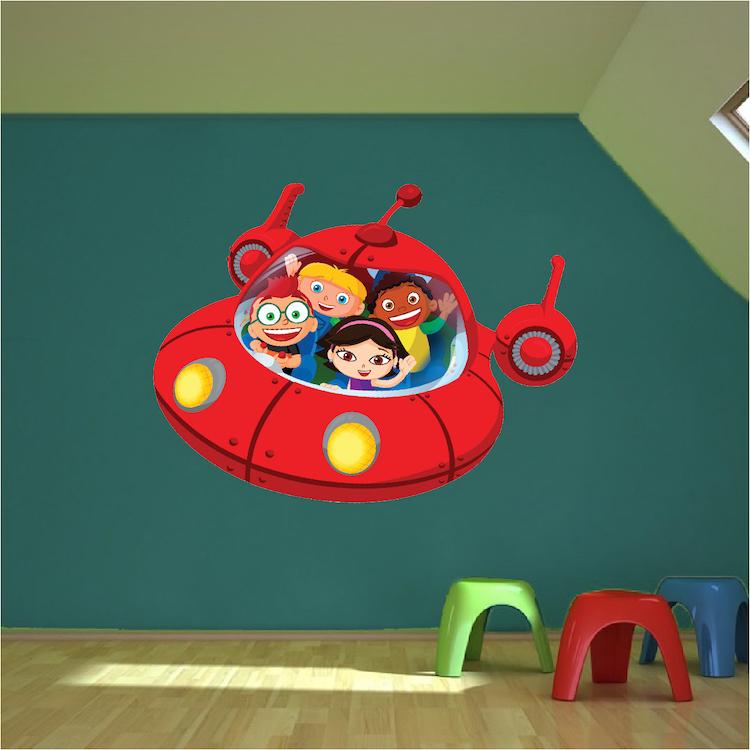 Little Einsteins Spaceship Wall Decal   Space Wall Decal Murals    Primedecals
