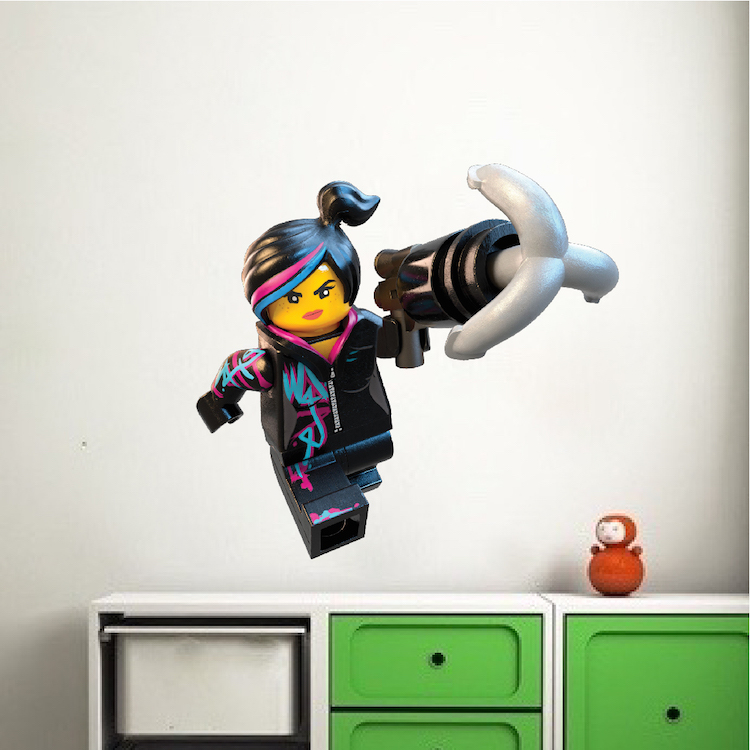 Lego Lucy Wall Decal - Girls Lego Movie Bedroom Wall Design - Lego