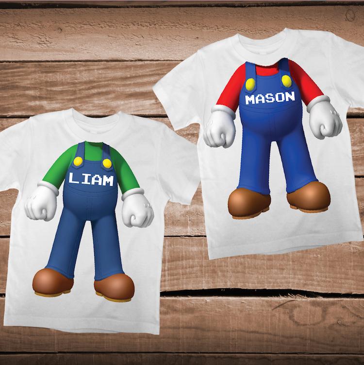 Mario Bros Body Shirt For Kids Nintendo Tees Mario