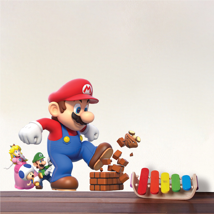 Super mario wall stickers - Mario wall clings ...