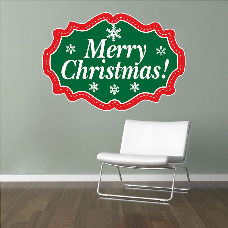 Merry Christmas Wall Decal Christmas Murals Primedecals