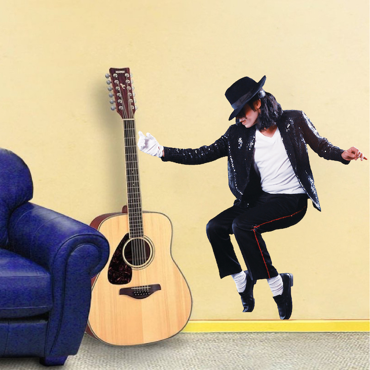 Michael jackson wall mural decal music wall stickers for Jackson 5 mural
