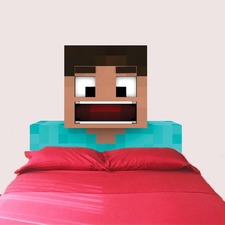 Steve Minecraft Wall And Headboard Decal Part 78