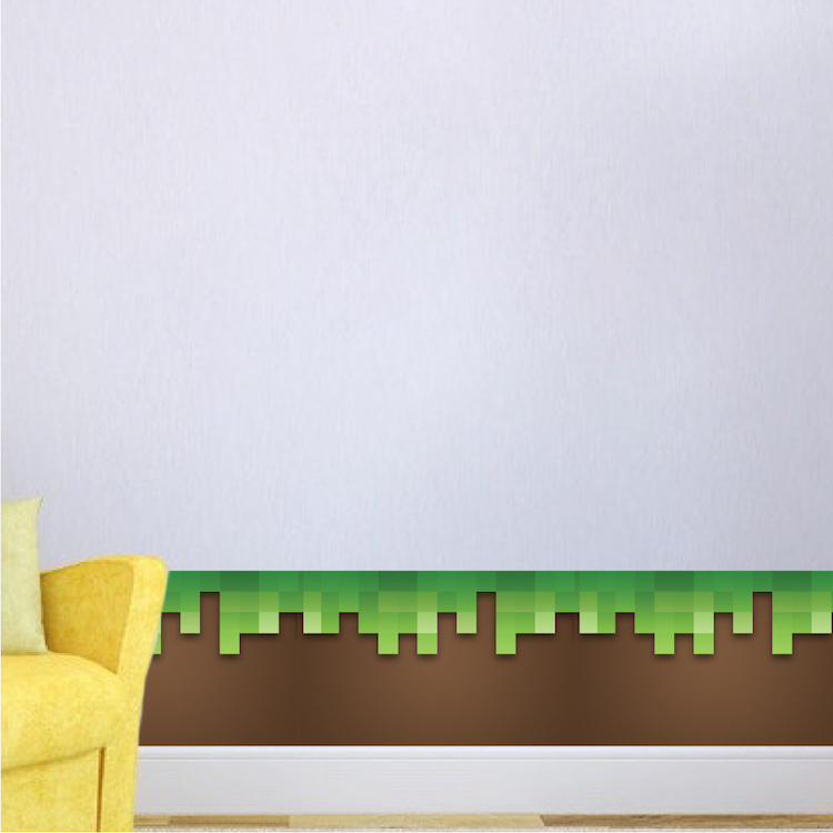 Grass Wallpaper Decal   Grass Room Decal   Video Game Wall Decal Murals    Grass Bedroom Wall Decal   Kids Green Grass Sticker   Primedecals Part 89
