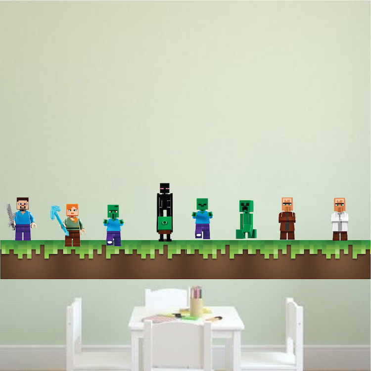 Minecraft Grass Wall Decal - Minecraft Decal