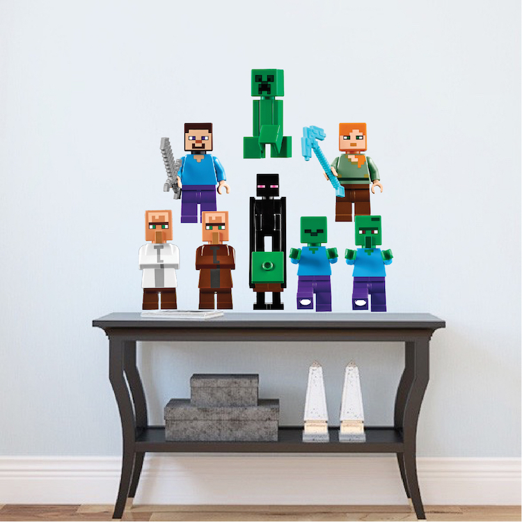 lego minecraft characters wall decals - Wall Decals Designs