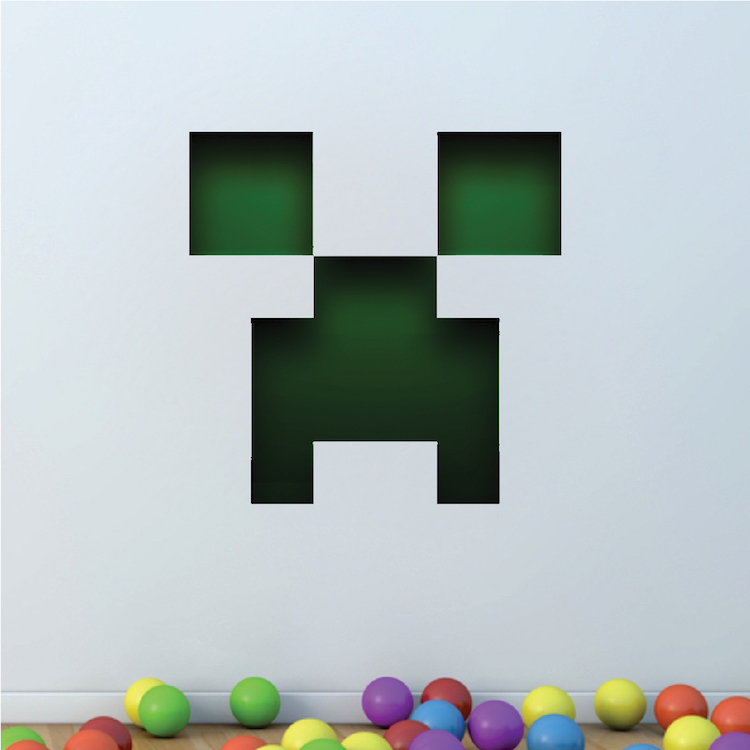 minecraft creeper face wall graphic - Wall Decals Designs