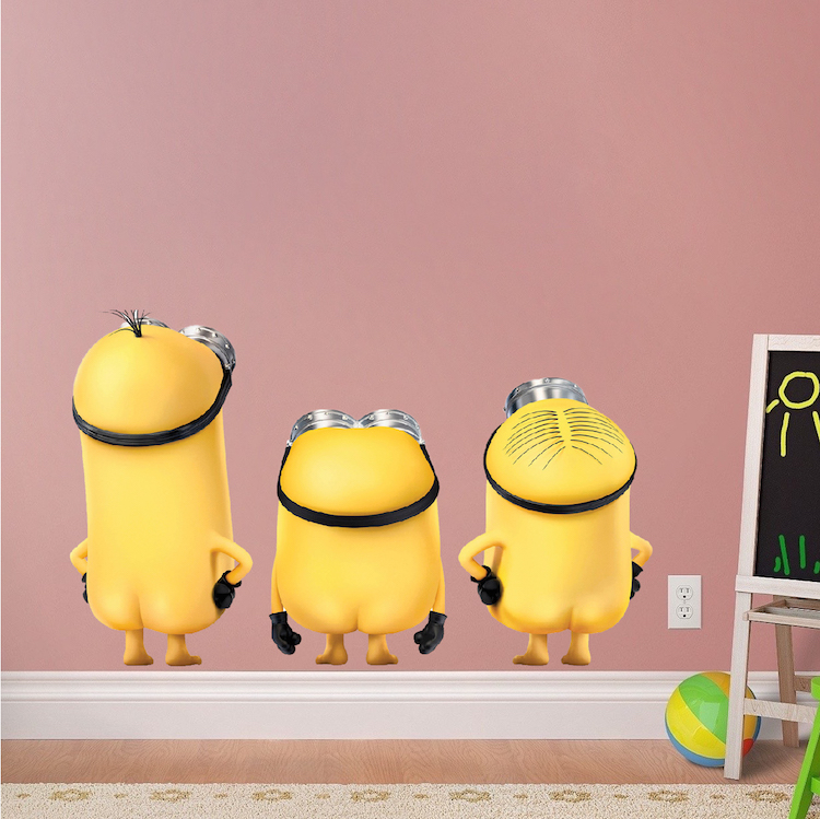 Minions Wall Decal Mural Cartoon Wall Decal Murals
