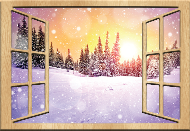 Wall Mural Decal winter night wall mural decal - scenic wall decal murals - primedecals