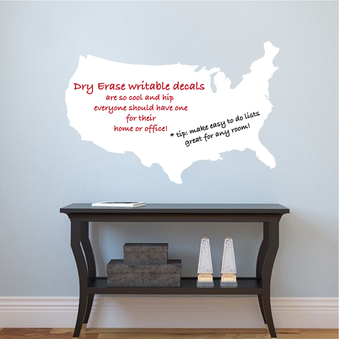 US Map Dry Erase Wall Decal Modern Wall Decal Murals Primedecals - Us map dry erase