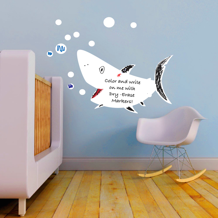 Beau Writable Shark Wall Decal