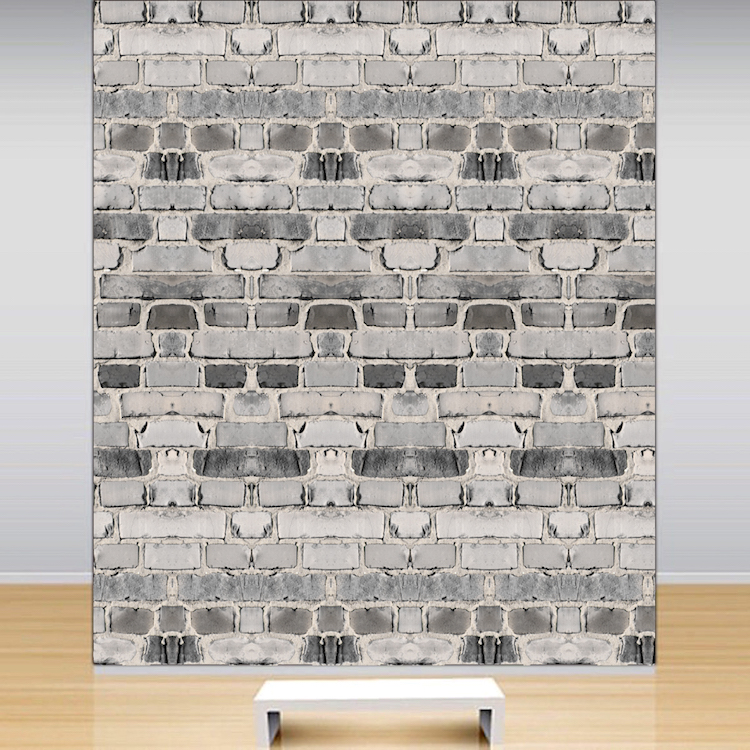 Brick wallpaper self adhesive decal removable brick for Brick wall decal mural