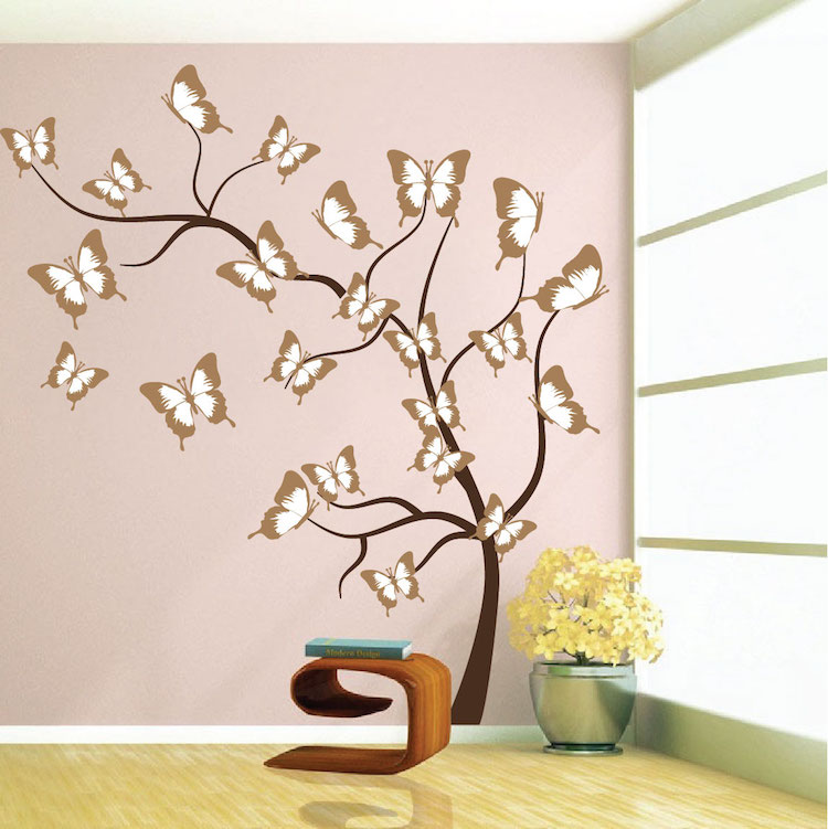 Butterfly Tree Wall Mural Decal
