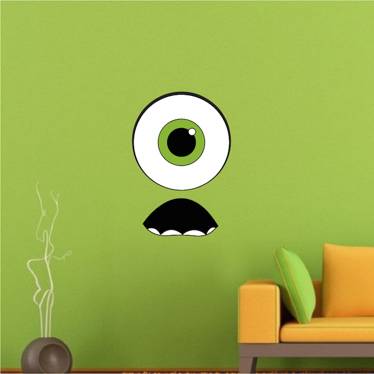 Monster Face Kids Decal Designs - Kids Monster Wallpaper Decals