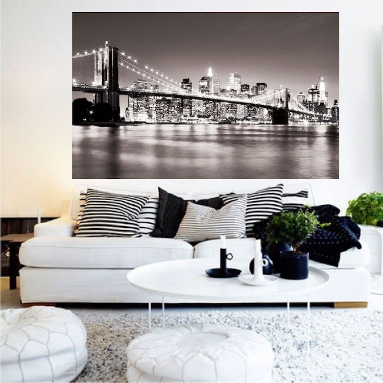 Wall Design Decals koi fish wall decals New York Bridge Mural Decal View Wall Decal Murals Primedecals