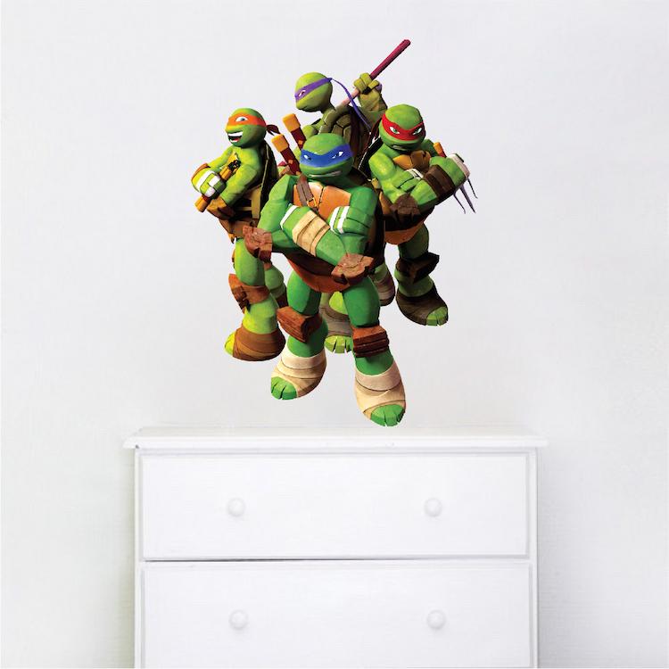 Ninja Turtle Wall Decal Murals Ninja Turtles Bedroom Designs - Ninja turtle wall decals